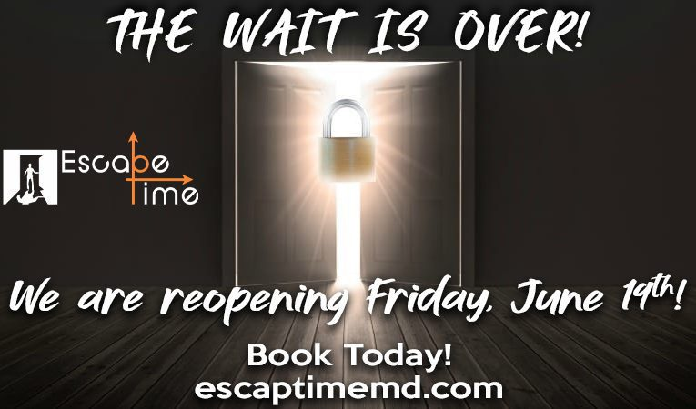 Escapetime reopen